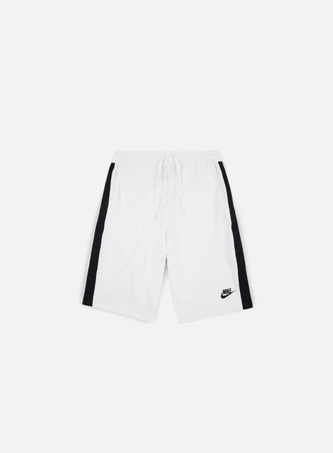pantaloni nike poly track tribute short white black