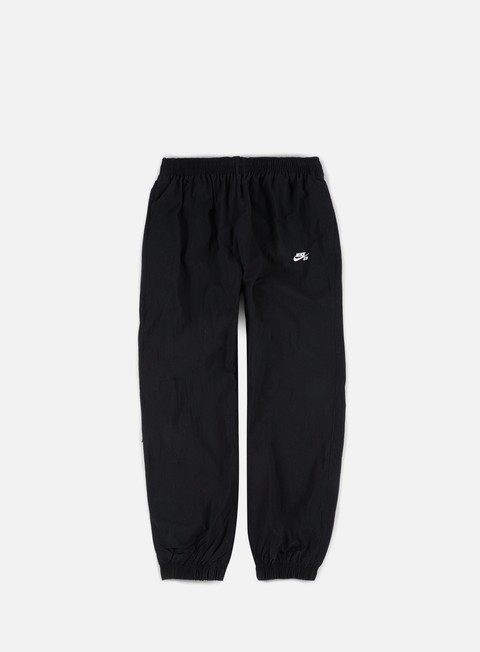 pantaloni nike sb flex track pants black white