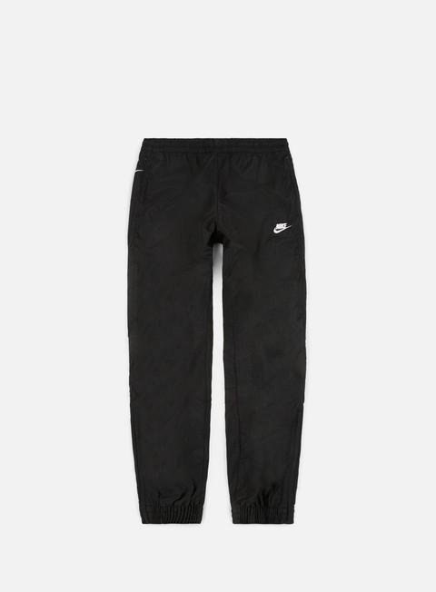 pantaloni nike swoosh woven pant black white