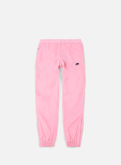 pantaloni nike swoosh woven pant pink black
