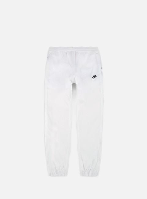 pantaloni nike swoosh woven pant white black