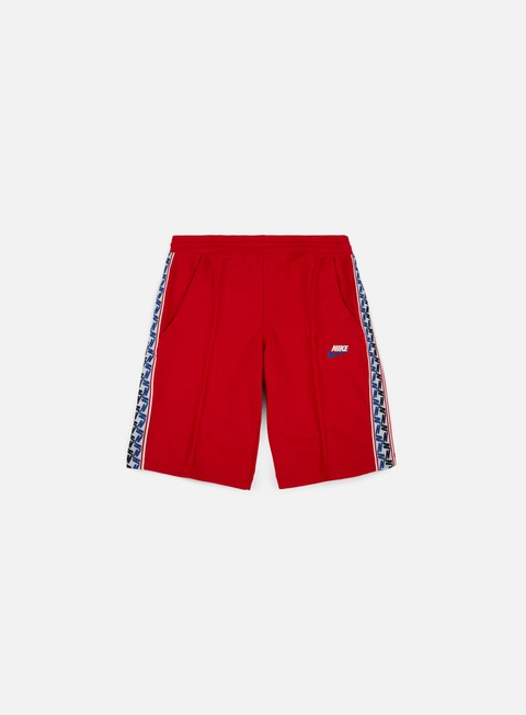 pantaloni nike taped poly short black university red