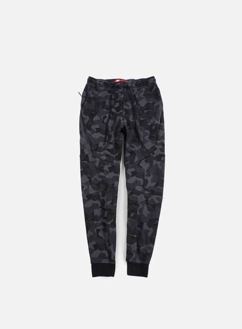 pantaloni nike tech fleece jogger pant aop anthracite black