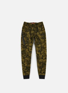 Nike - Tech Fleece Jogger Pant AOP, Olive Flak/Black 1