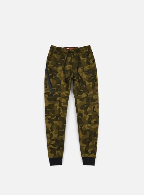 pantaloni nike tech fleece jogger pant aop olive flak black