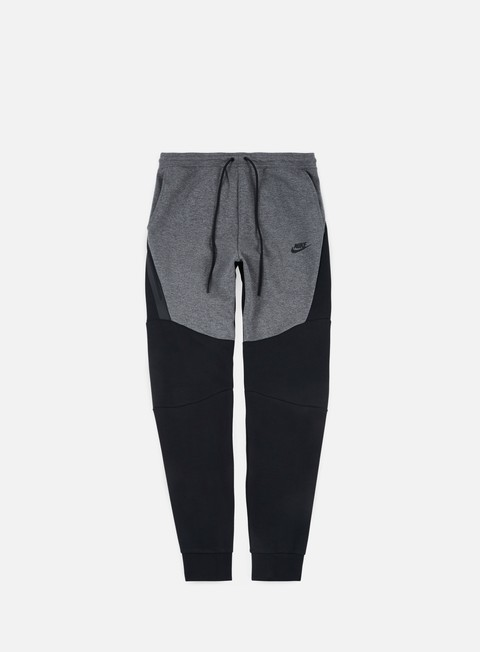 pantaloni nike tech fleece jogger pant charcoal heather black black