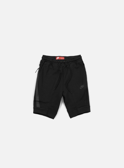 pantaloni nike tech fleece jogger short black black