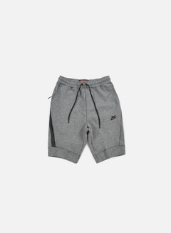 Nike - Tech Fleece Jogger Short, Carbon Heather/Black 1