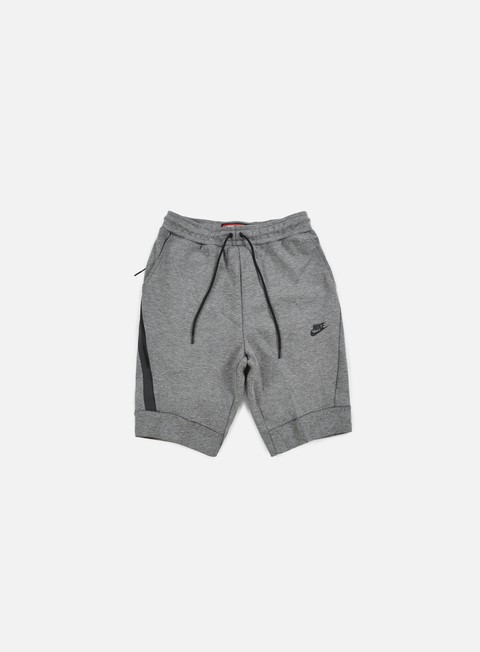 pantaloni nike tech fleece jogger short carbon heather black