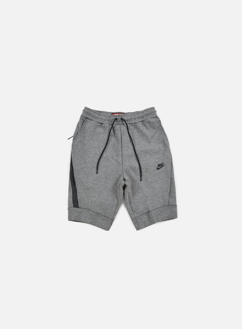 Nike - Tech Fleece Jogger Short, Carbon Heather/Black