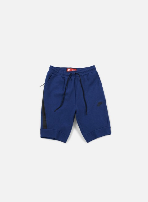 pantaloni nike tech fleece jogger short coastal blue black