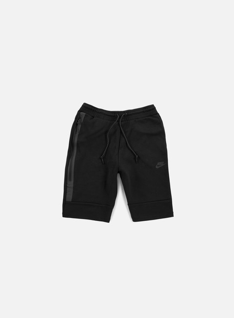 pantaloni nike tech fleece short black black