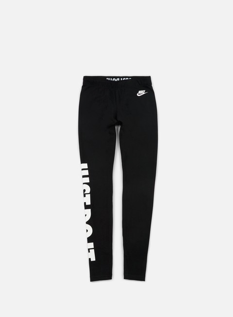 pantaloni nike wmns leg a see just do it tights black white