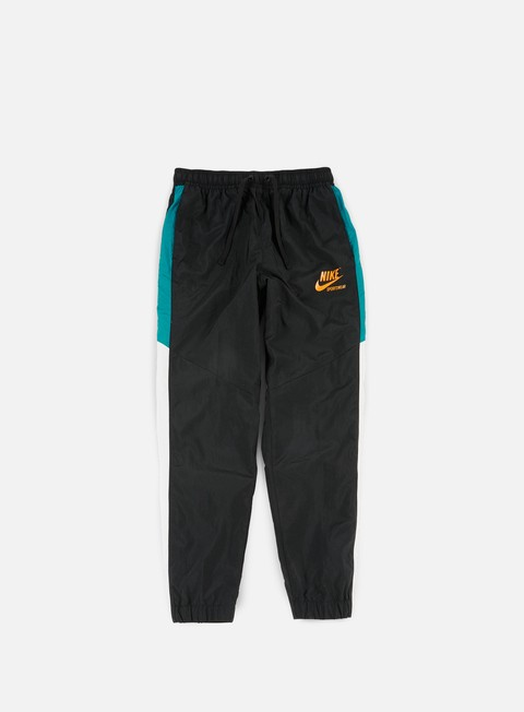 pantaloni nike woven archive track pant black circuit orange