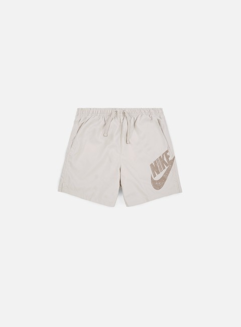 pantaloni nike woven flow short light bone black