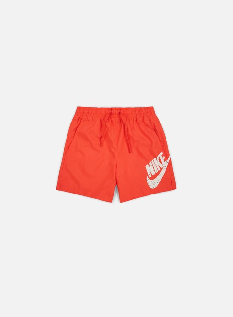 pantaloni nike woven flow short rush coral black