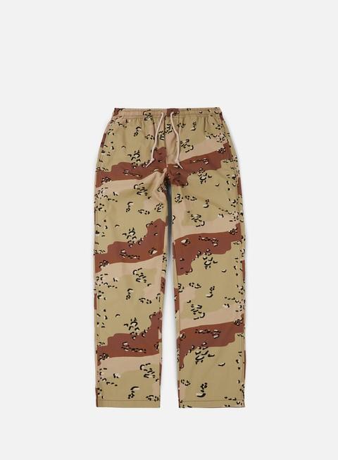 pantaloni obey easy camo pant choco chip camo