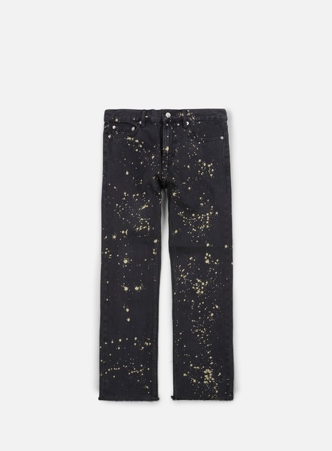 pantaloni obey new threat cut denim pant bleached black