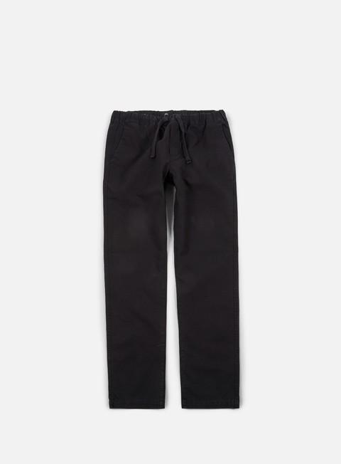 pantaloni obey traveler slub twill ii pant black