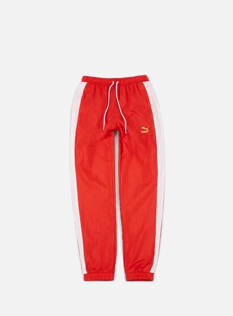 pantaloni puma b boy track pants flame scarlet white