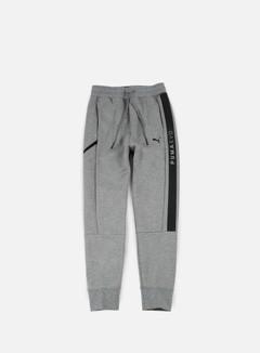 Puma - Evo Core Sweat Pants, Medium Grey Heather