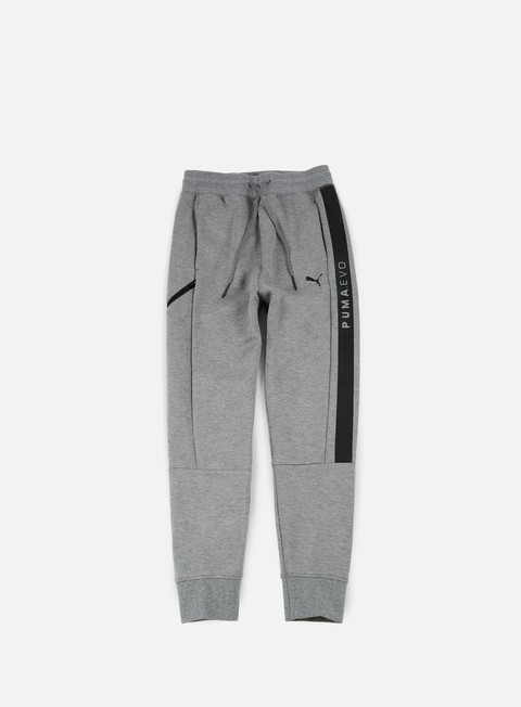 pantaloni puma evo core sweat pants medium grey heather