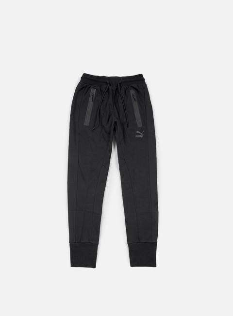 pantaloni puma evo mesh sweat pant black