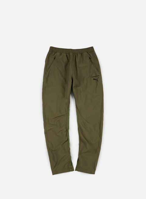 pantaloni puma evo tech pants olive night