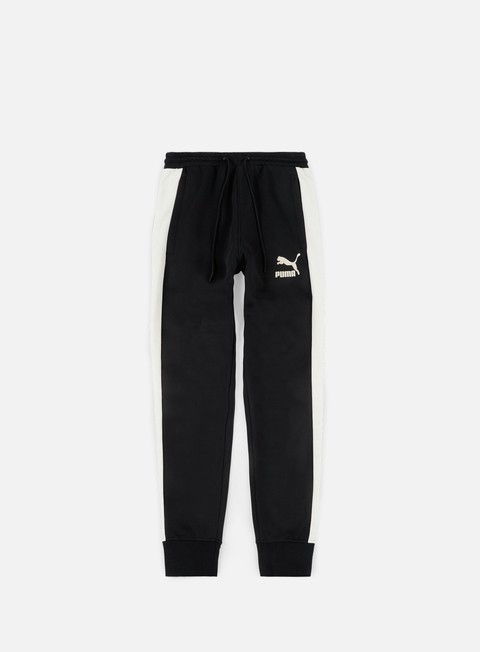 pantaloni puma t7 suede inserts pants puma black
