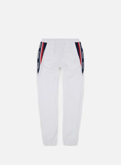 pantaloni reebok franchise track pants white