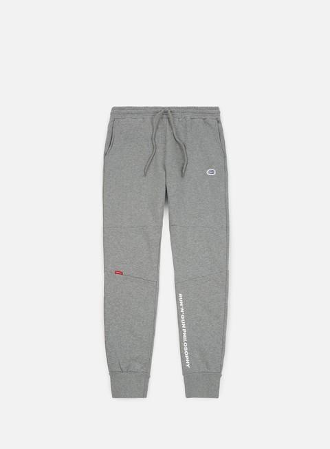 pantaloni run n gun playground track pant grey melange