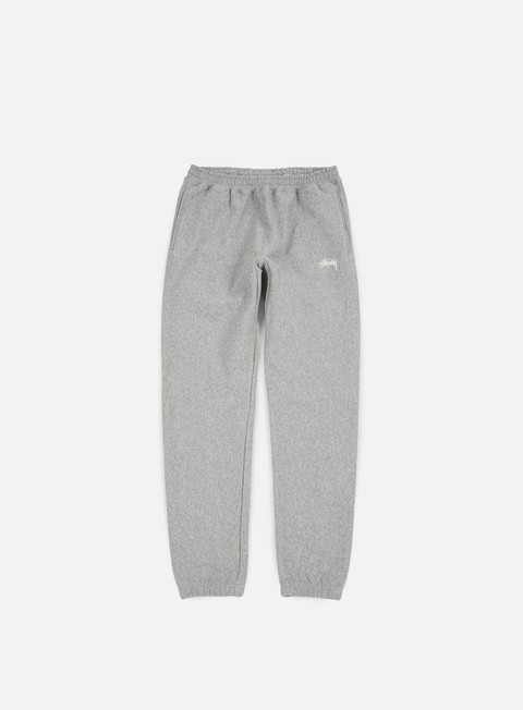 pantaloni stussy overdye stock fleece pant grey heather