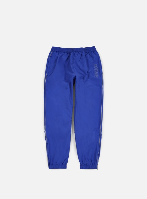 pantaloni stussy reflective track pant blue