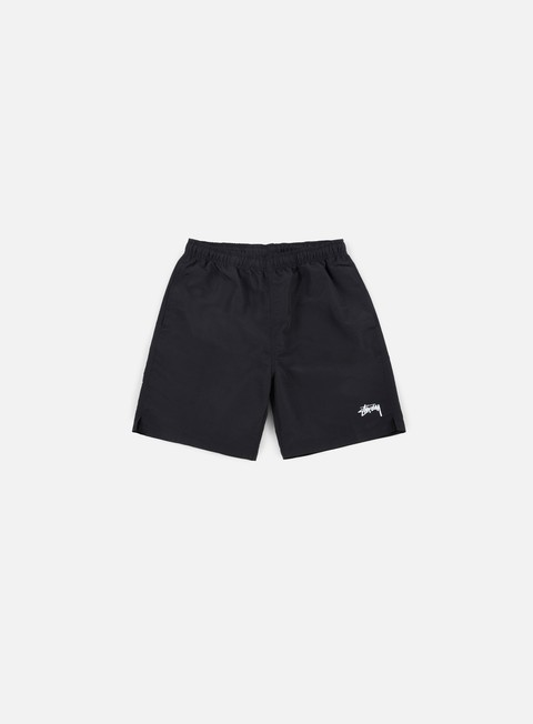 pantaloni stussy stock elastic waist short black