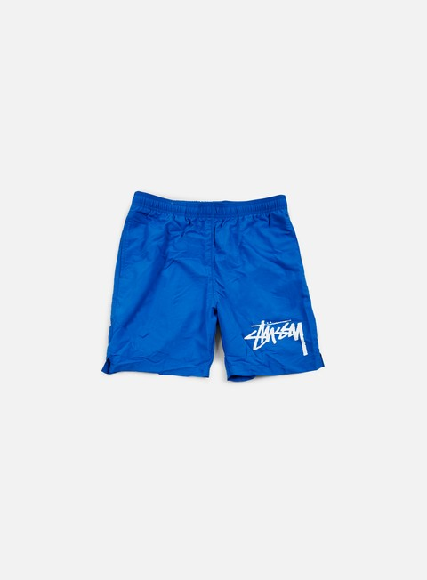 pantaloni stussy stock elastic waist trunk blue