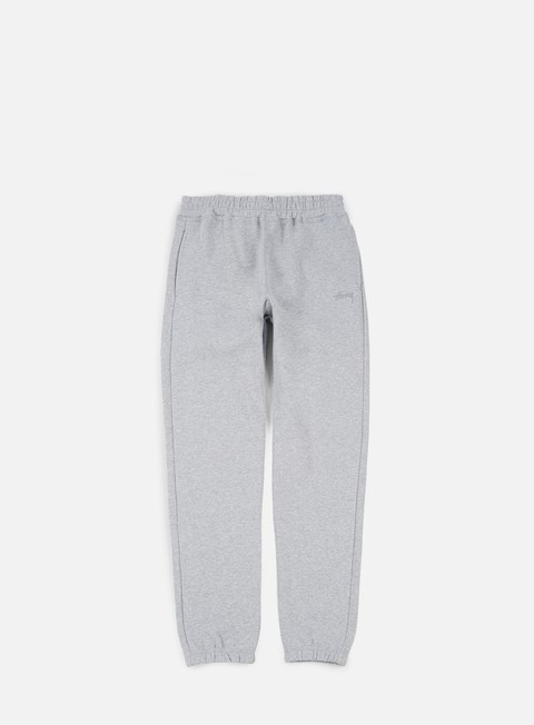 pantaloni stussy stock fleece pant grey heather