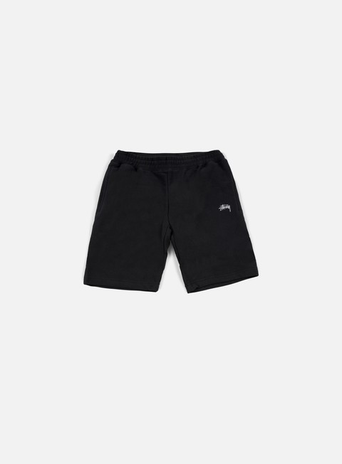 pantaloni stussy stock fleece short black