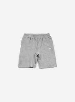 Stussy - Stock Fleece Short, Grey Heather 1