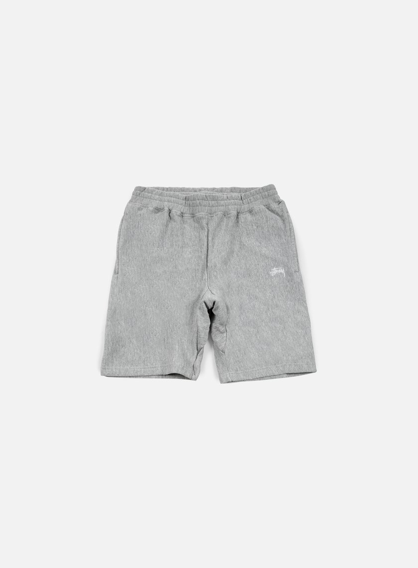 Stussy - Stock Fleece Short, Grey Heather