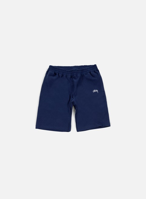 pantaloni stussy stock fleece short navy