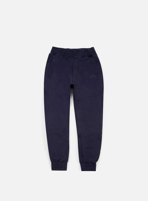 pantaloni stussy tonal stock fleece pants navy