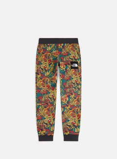 The North Face - Fine Pant, Leopard Yellow Genesis Print