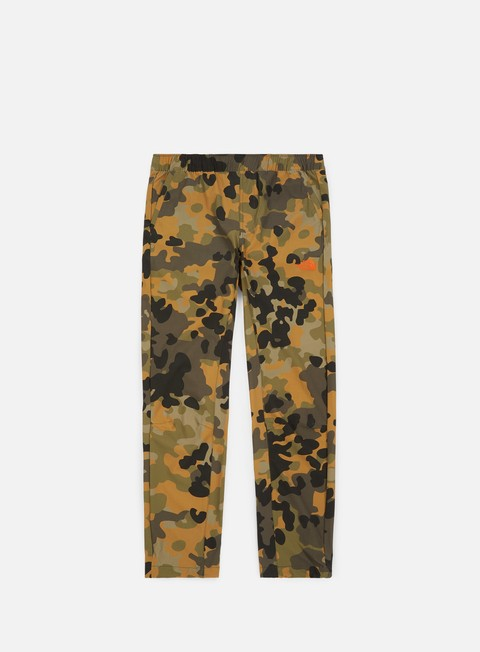 pantaloni the north face tech woven pant new taupe green macrofleck camo print