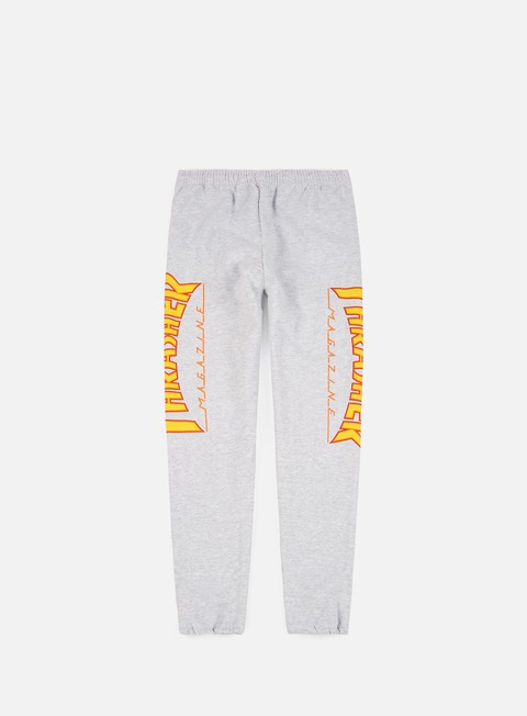pantaloni thrasher flame sweatpant grey