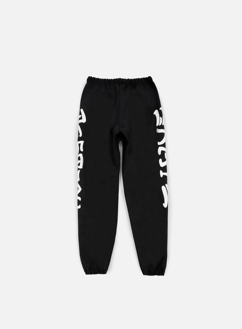 pantaloni thrasher skate e destroy sweat pants black