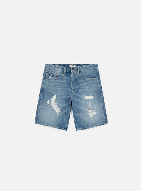 pantaloni tommy hilfiger baggy short vidi mid blue rigid