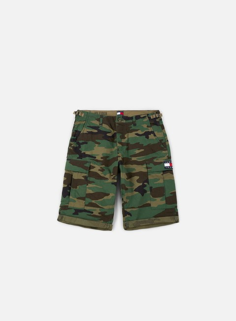 pantaloni tommy hilfiger tj 90s camo cargo short camo print multicolor