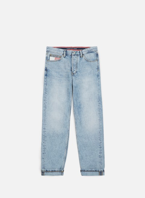 pantaloni tommy hilfiger tj 90s dad jeans light blue denim