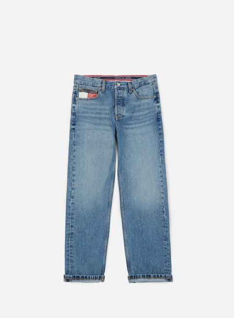 pantaloni tommy hilfiger tj 90s dad jeans mid blue denim