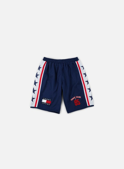 pantaloni tommy hilfiger tj 90s mesh short medieval blue